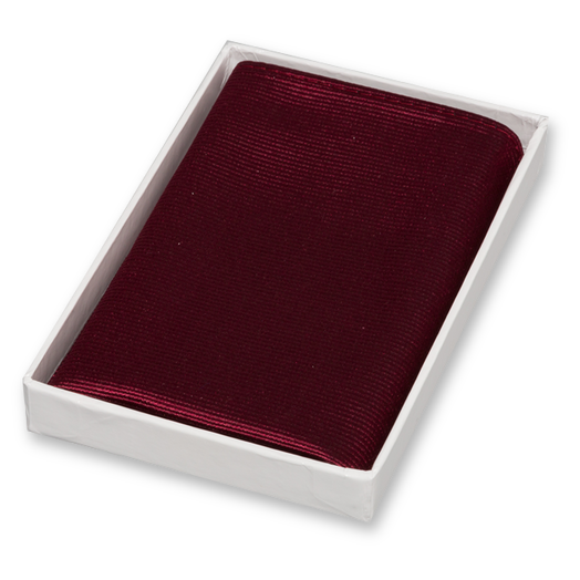 Burgundy Pocket Square - Silk (1)