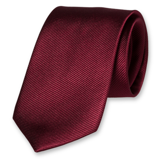 Burgundy Extra Long Tie - Silk (1)
