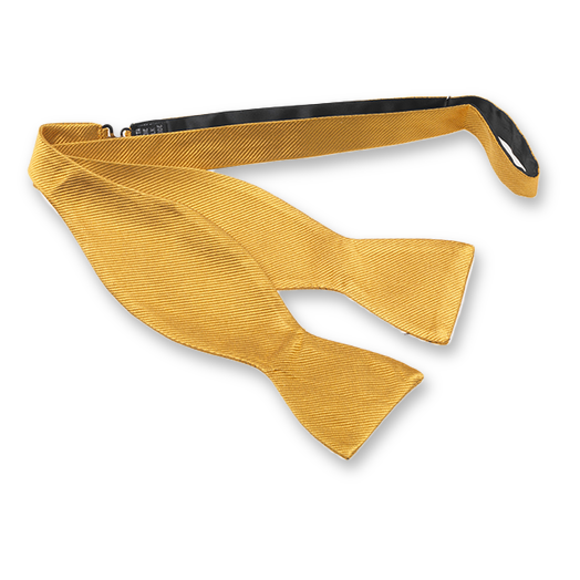 Ocher self-tie bow tie - silk (1)