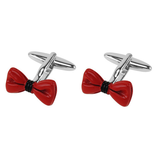 Cufflinks - Red Bow Tie (1)