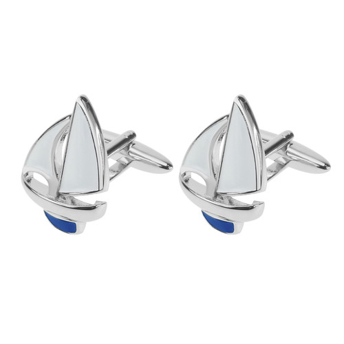 Cufflinks - Sailboat (1)