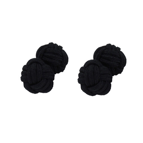 Fabric Cufflinks - Black (1)