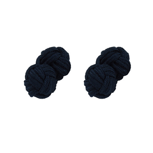 Fabric Cufflinks - Dark blue (1)
