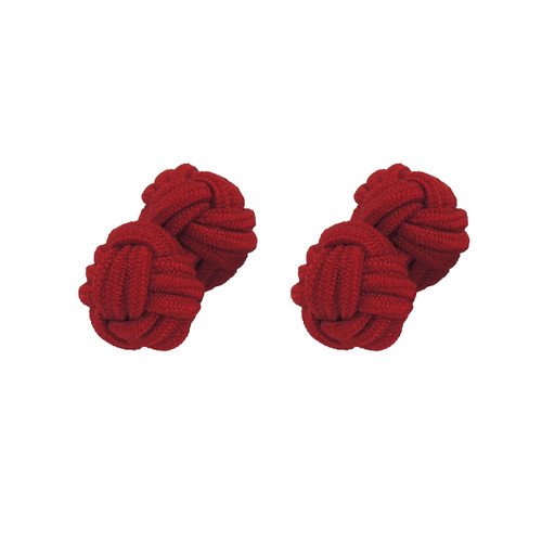 Fabric Cufflinks - Red (1)