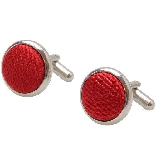 Bright red cufflinks (1)
