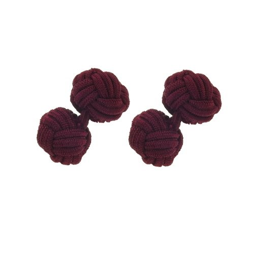 Fabric Cufflinks - Burgundy (1)