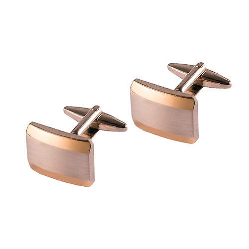 Cufflinks  - Silver gold accent (1)
