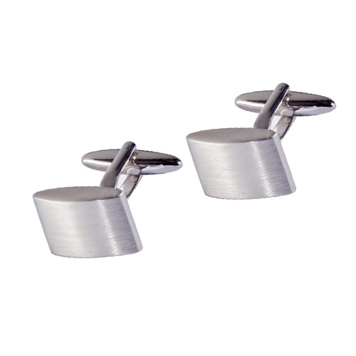Cufflinks - Brushed ellipse (1)